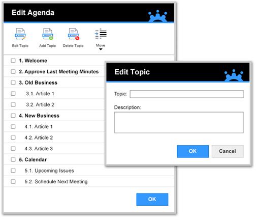 Edit Agenda